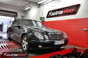 Hamownia Mercedes W211 E 200 CDI 122 KM