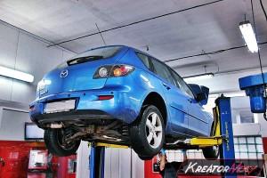 Usuwanie filtra DPF Mazda 3 1.6 CD 109 KM