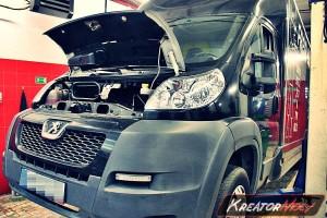 Usuwanie filtra DPF Peugeot Boxer 3.0 HDI 155 KM