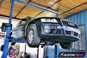 Uszkodzony DPF Audi A8 D3 4.2 TDI 326 KM