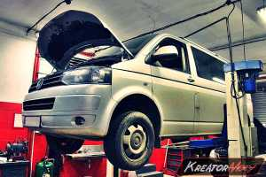 Uszkodzony DPF VW Caravelle T5 2.0 TDI 140 KM