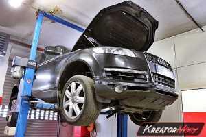 Uszkodzony DPF Audi Q7 3.0 TDI 233 KM
