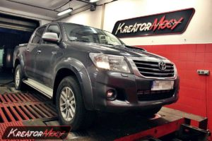 Chip tuning Toyota Hilux 3.0 D4D 171 KM (automat)