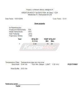 Zadymienie spalin Kia Rio 1.4 CRDI 90 KM