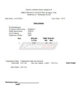 Zadymienie spalin Renault Trafic 2.0 DCI 90 KM