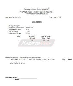 Zadymienie spalin Peugeot 407 2.0 HDI 136 KM
